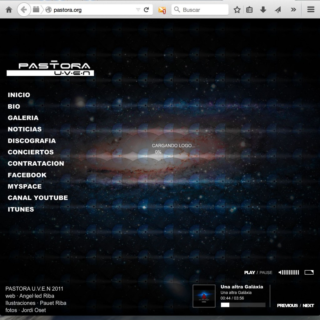 Ejemplo de una web entrando desde un ordenador