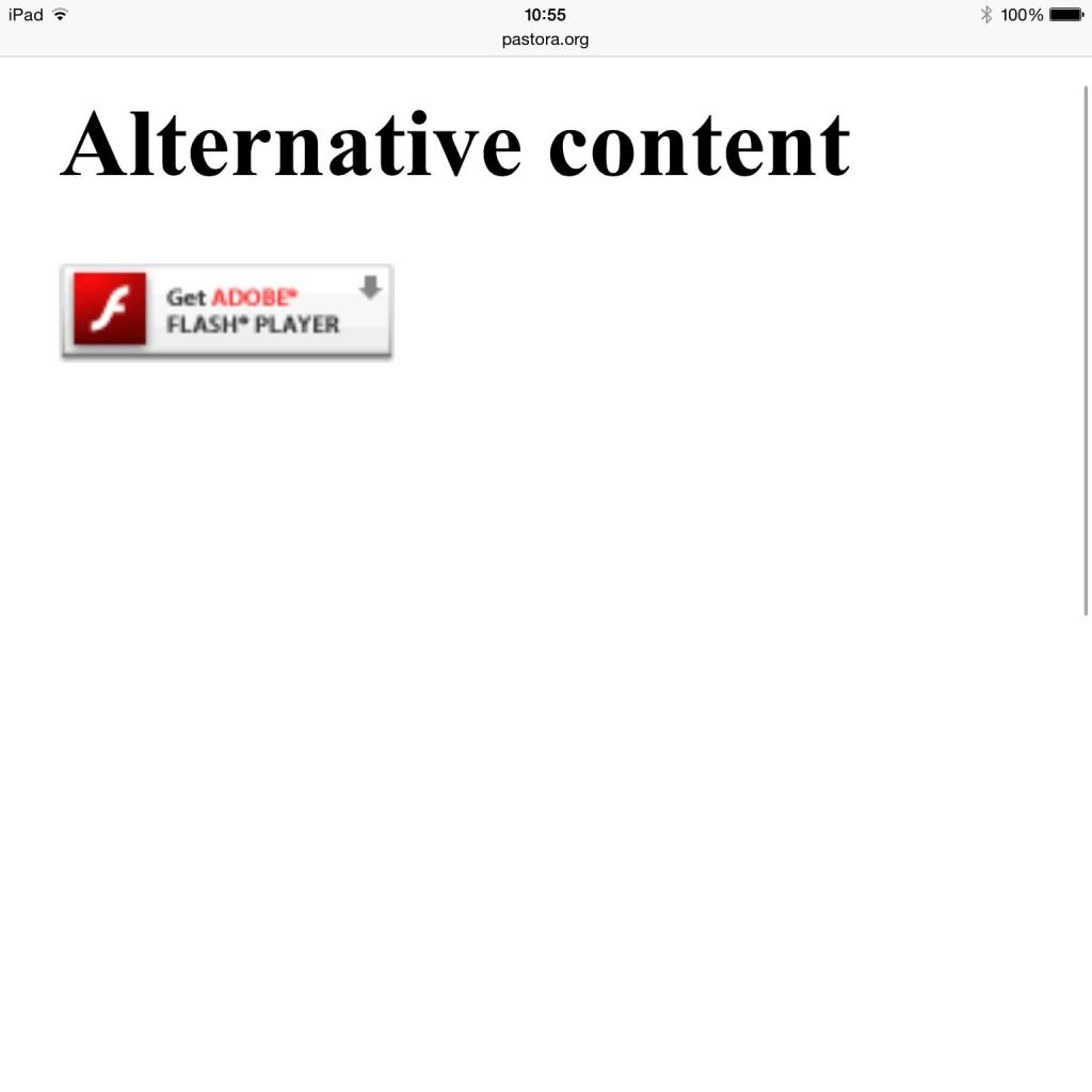 Ejemplo de la misma web desde iPad