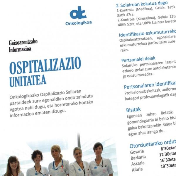 Onkologikoa: folleto tríptico