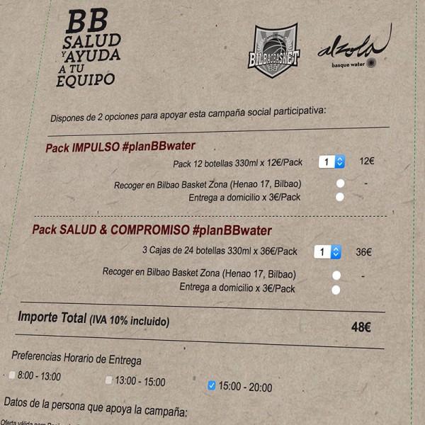 #planBBwater de Alzola & Bilbao Basket: nueva microsite