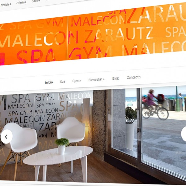 Spa Malecon Zarautz: nueva página web