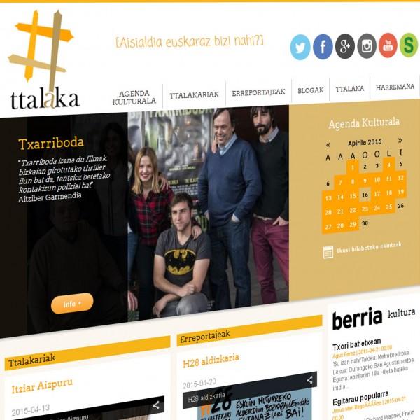 Ttalaka Kultur Elkartea: nueva página web