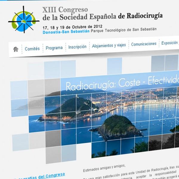 Congreso de Radiocirugía 2012: desarrollo web