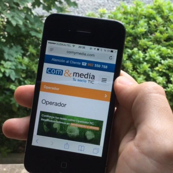 ComyMedia: página web responsiva