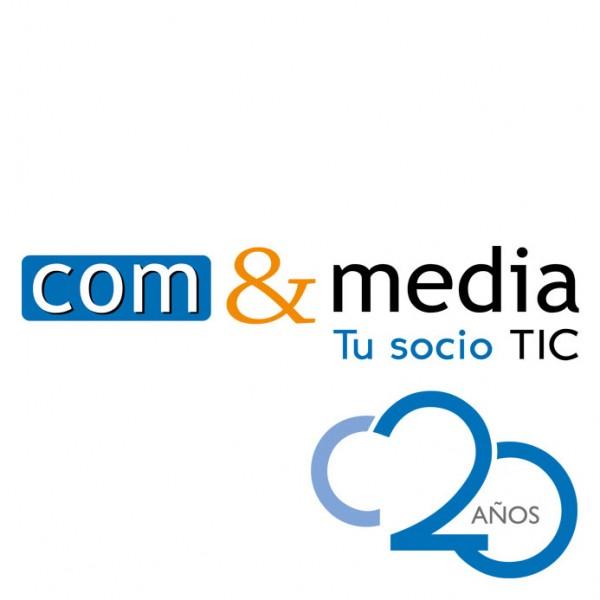 ComyMedia: logotipo 20 aniversario